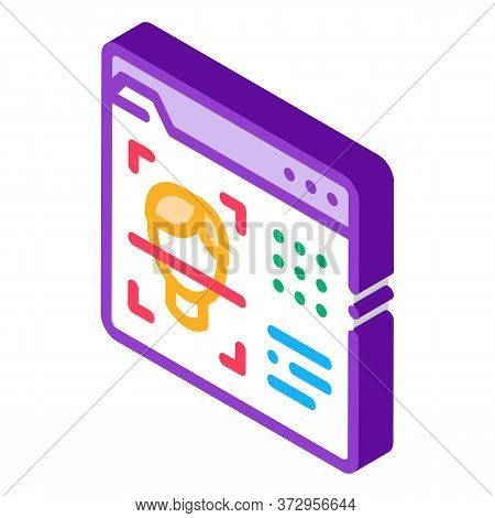 Deepfake Online Scanner Icon Vector. Isometric Deepfake Online Scanner Sign. Color Isolated Symbol I