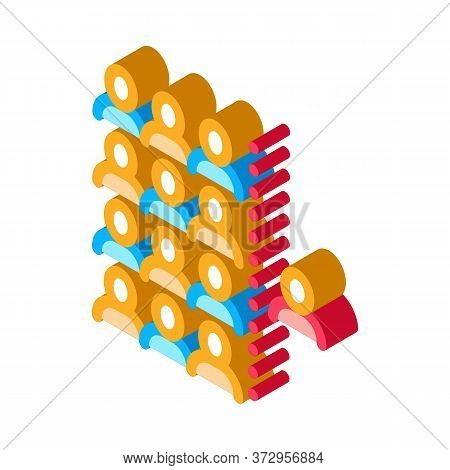 Human Dementia Per Population Icon Vector. Isometric Human Dementia Per Population Sign. Color Isola
