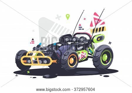 Racing Car Buggy. Powerful And Fast Sports