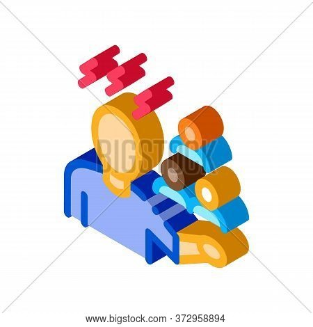 Racist Expression Icon Vector. Isometric Racist Expression Sign. Color Isolated Symbol Illustration
