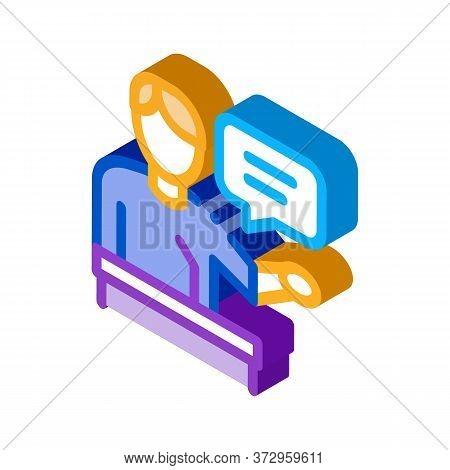 Seminar Speaker Icon Vector. Isometric Seminar Speaker Sign. Color Isolated Symbol Illustration