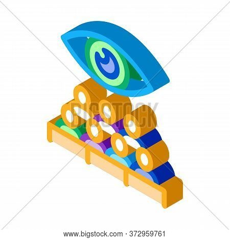 Audience Watching Icon Vector. Isometric Audience Watching Sign. Color Isolated Symbol Illustration