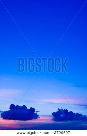 Sunset Sunrise Blue Cloudscape