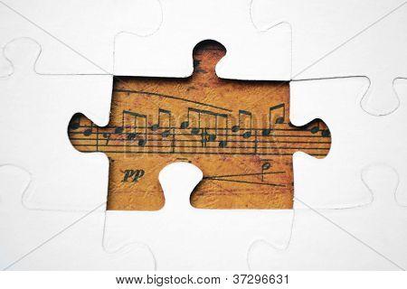 Music Puzzle Concept
