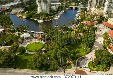 Aerial Photo Esplanade Park Fort Lauderdale On The River