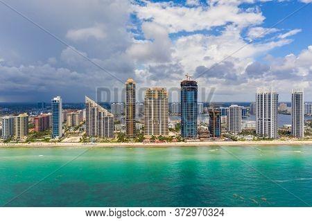 Aerial Photo Sunny Isles Beach Florida Usa
