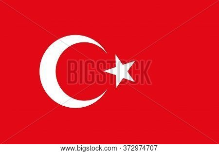 Vector Turkey Flag . Vector Background Of Turkey Flag. Turkish Flag Vector Drawing. Creative Abstrac