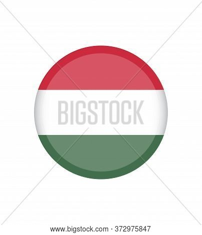 Vector Illustration Of Hungary Flags. Hungary Flag, Official Colors And Proportion Correctly. Nation