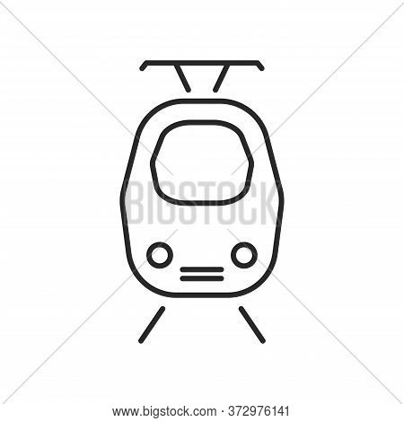 Tram Outline Icon. Vector Illustration.