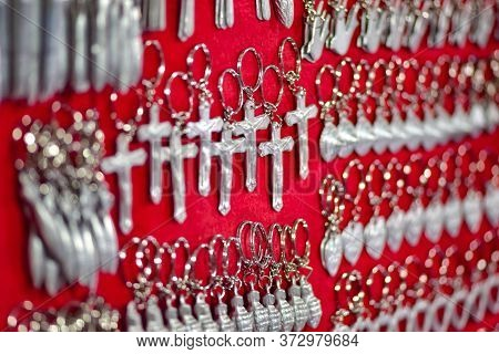 Keychains  Jewelry  Made Of Metal Scraps From Unexploded Bombs Luang Prabang Market Laos