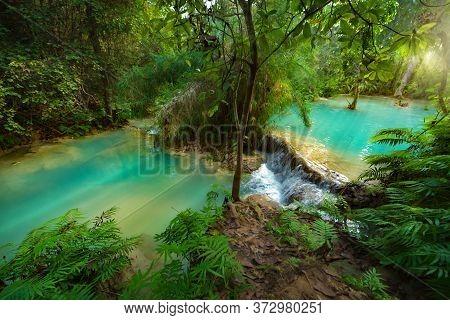Tat Kuang Si Waterfalls Luang Prabang Northern Laos