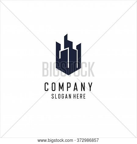 Apartment, Real Estate, Cityscape, City Skyline Logo Design Inspiration, Urban City Apartment Buildi
