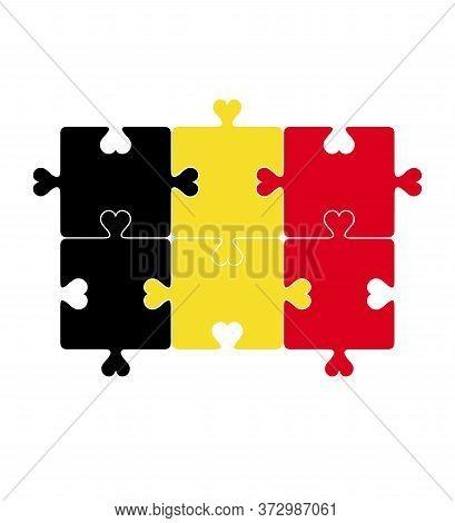 Flagofbelgium . Puzzle Belgium Flag .flagofbelgium . Puzzle Belgium Flag