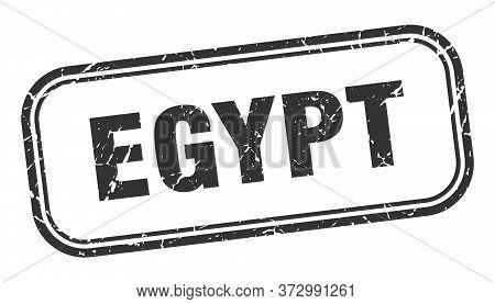 Egypt Stamp. Egypt Black Grunge Isolated Sign