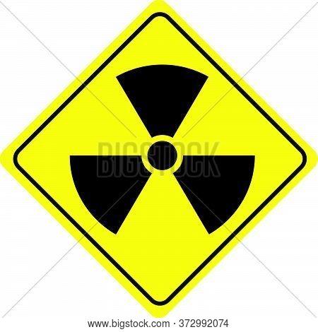 Danger Radiation Warning Sign Vector New Design