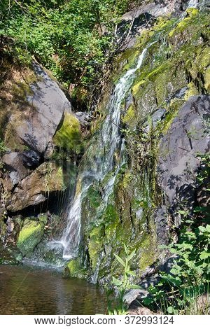 Black Hole Of Calcuta Falls, Auburn, California, Usa, In The End Of The Winter Of 2017, After Many R