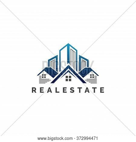 Modern Real Estate Business Logo Template, Building, Property Development, And Construction Logo Vec