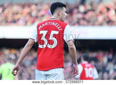 London, England - January 18, 2020: Gabriel Martinelli Of Arsenal Pictured During The 2019/20 Premie