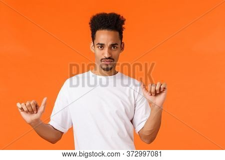 Guy Feeling Party Mood. Groovie And Cheeky Carefree Sassy African-american Hipster Guy In White T-sh