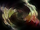 unknown fantasy alien colorful distorted abstract in black background poster