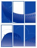 Elegant simple blue brochure sample vector illustration poster