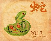 Chinese Calligraphy 2013 for Year of Snake poster