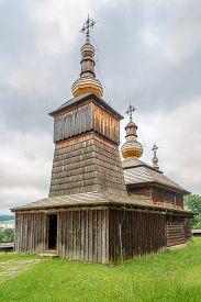 View At The Wooden Church Of St.paraskeva From Village Nova Polianka In Svidnik - Slovakia