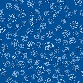 Seamless Pattern With Document Files Folders Icons
