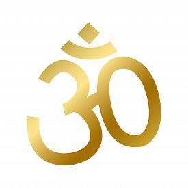 Hinduism Faith Symbol Isolated Religion Hindu Sign