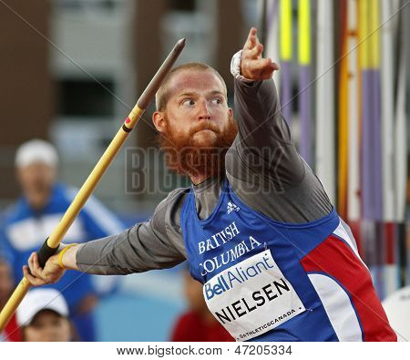 Javelin Throw Man Athlete Canada