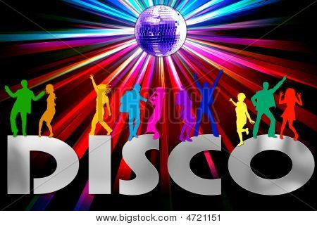 Colorful Disco Background
