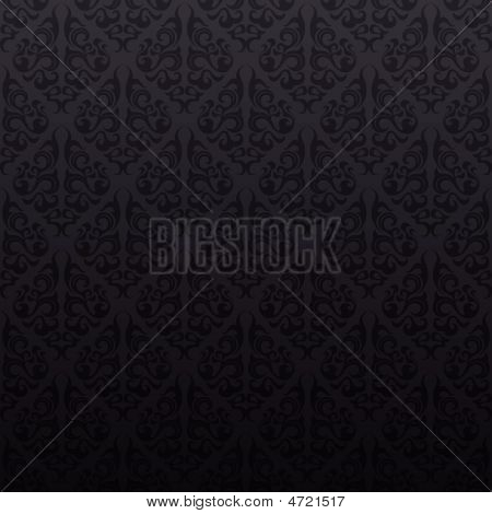 Seamless Gray Floral Design
