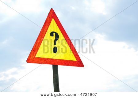 Road Sign - Question Mark