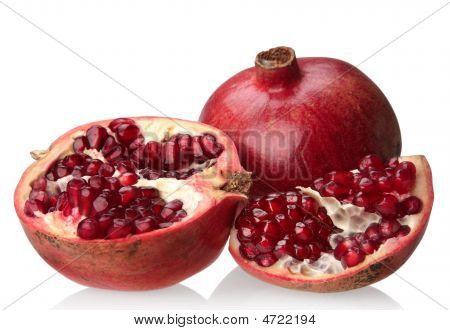 Pomegranate With Slice
