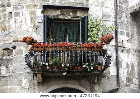 Balcony In Lucca, Tuscany, Italy
