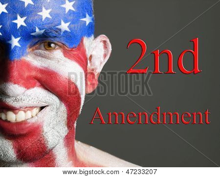 Man Face Flag Usa, 2Nd Amendment