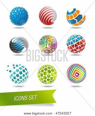 Sphere icon set