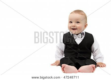 Happy Boy In Suit