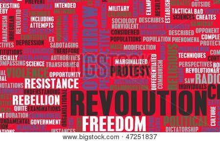 Revolution in der politischen oder technischen Konzept-Kunst