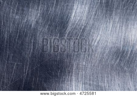 Scratched Metal Texture Gray Blue Silver Color