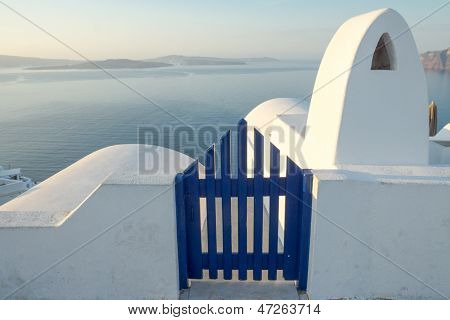 View to the sea in Oia
