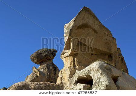 rock shape made of volcanic tuff rock
