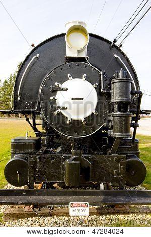 steam locomotive, Groveton, New Hampshire, USA