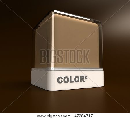 Design block in a brown color