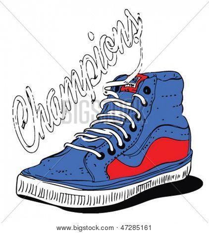 illustration vector sport shoes