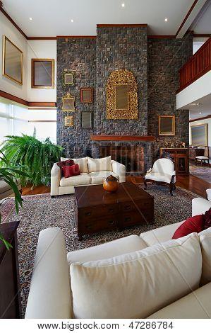 Interior Design-Serie: klassische Wohnzimmer. GROßES HAUS