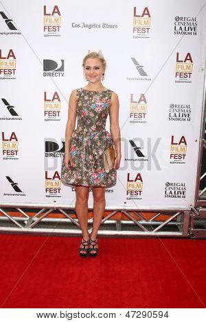 "LOS ANGELES - JUN 23:  AnnaSophia Robb arrives at  ""The Way Way Back"" Premiere as part of the Los Angeles Film Festival at the Regal Cinemas on June 23, 2013 in Los Angeles, CA"