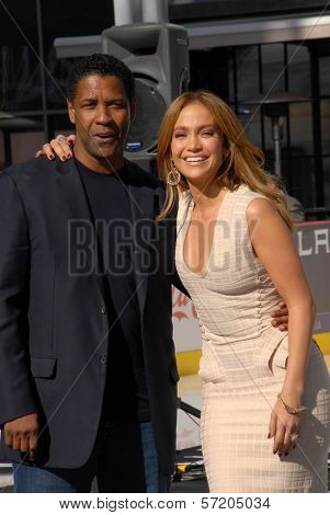 Denzel Washington and Jennifer Lopez  at a Boys And Girls Clubs Of America Announcement With Denzel Washington And Jennifer Lopez, Nokia Theatre L.A. Live, Los Angeles, CA. 11-30-10