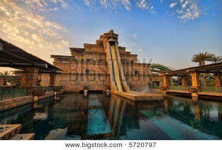 The Leap of Faith Slide in Atlantis Aquaventure in Dubai, UAE.