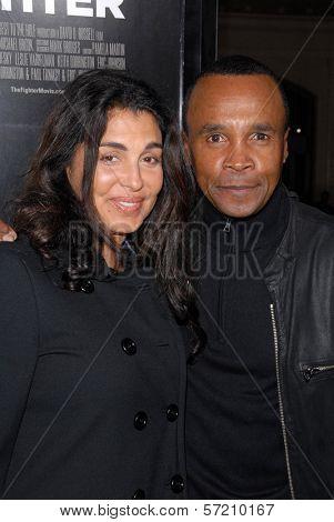 Sugar Ray Leonard and wife Bernadette Robi  at